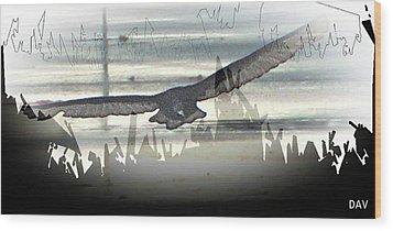 Over The Water Wood Print by Debra     Vatalaro