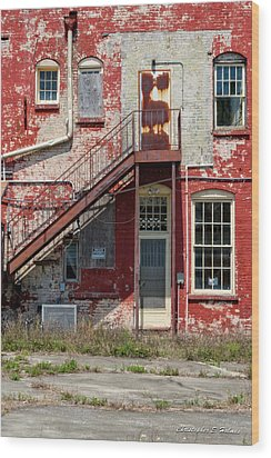Wood Print featuring the photograph Over Under The Stairs by Christopher Holmes