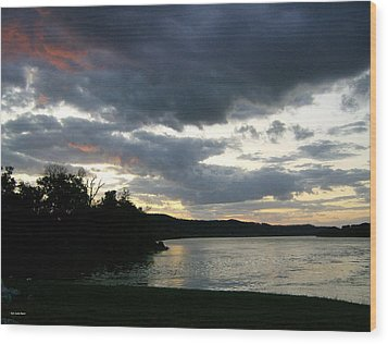 Wood Print featuring the photograph Overcast Morning Along The River by Skyler Tipton