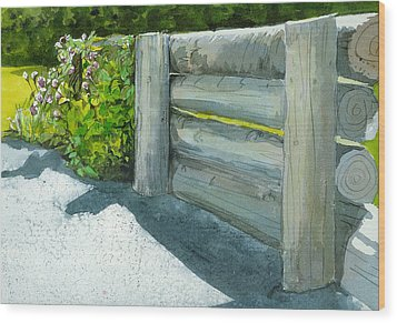 Wood Print featuring the painting Overcoming The Wall by Lynn Babineau