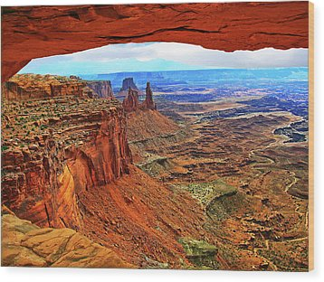 Wood Print featuring the photograph Overlooking Canyonlands National Park    Moab Utah by Gary Baird