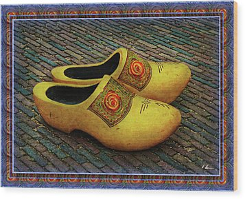 Wood Print featuring the photograph Oversized Dutch Clogs by Hanny Heim