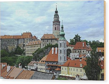 Overview Of Cesky Krumlov Wood Print by Kirsten Giving