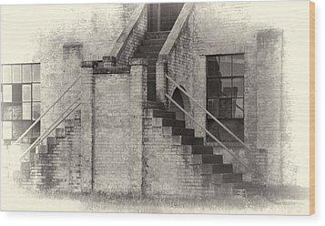 Owens Field Historic Curtiss-wright Hangar Wood Print