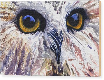 Owl Wood Print by John D Benson