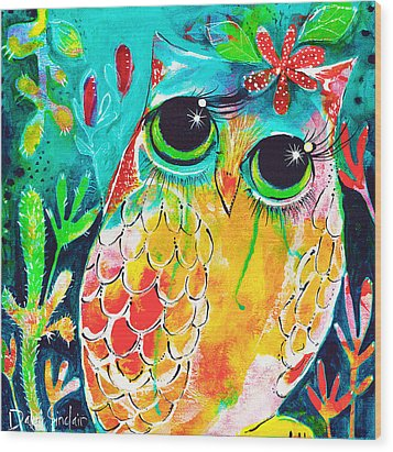 Owlette Wood Print by DAKRI Sinclair