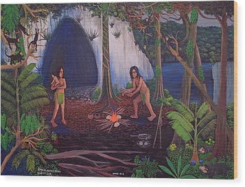 Owners Of The Jungle Wood Print