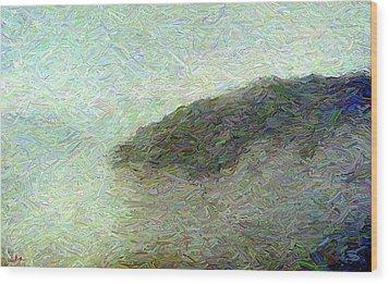 Ox Creek Fog Wood Print