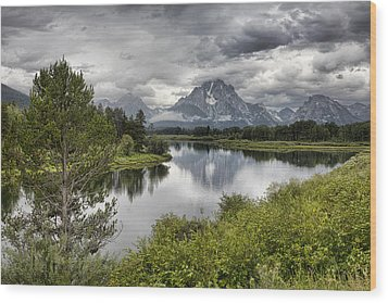 Oxbow Bend Wood Print by Hugh Smith