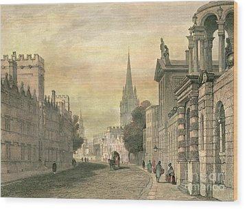 Oxford Wood Print by G Hollis