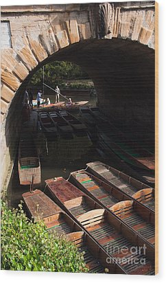 Oxford Punts Wood Print