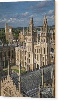 Wood Print featuring the photograph Oxford Spires by Brian Jannsen