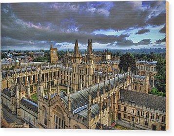 Oxford University - All Souls College Wood Print by Yhun Suarez