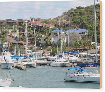 Wood Print featuring the photograph Oyster Bay Marina by Margaret Bobb