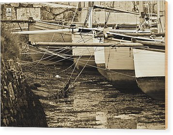Oyster Boats Laid Up At Mylor Wood Print