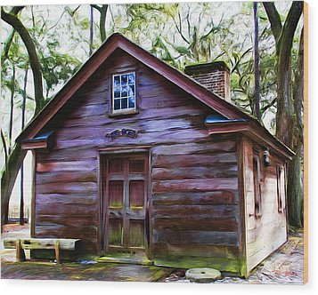 Oyster House On  Henry Ford Plantation Wood Print by Fred Baird