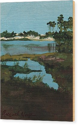 Oyster Lake Wood Print by Racquel Morgan