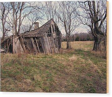 Ozark Barn Wood Print by Marty Koch