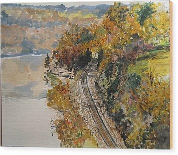 Ozark Fall Wood Print by Sharon  De Vore