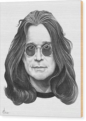 Ozzy Osbourne Wood Print by Murphy Elliott