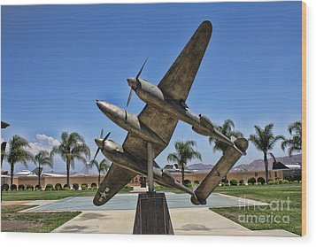 P-38 Memorial March Field Museum Wood Print by Tommy Anderson
