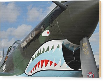 P-40 Flying Tigers Wood Print by Mark Grayden