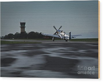 Wood Print featuring the photograph P-51  by Douglas Stucky