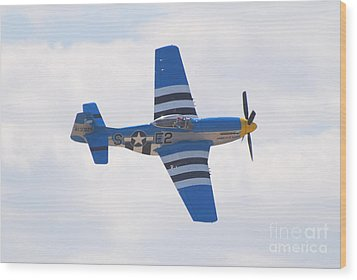 Wood Print featuring the photograph P-51 Mustang American Rose by Larry Keahey