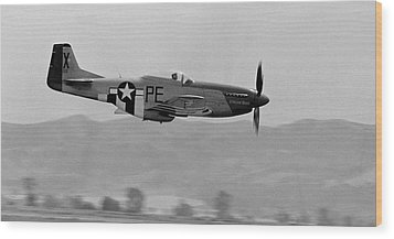 P-51d Wood Print by BuffaloWorks Photography