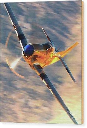 P-51d Grim Reaper And Dan Martin Wood Print