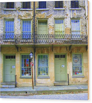 Wood Print featuring the photograph P Forbidden In Downtown Harpers Ferry  by Don Struke