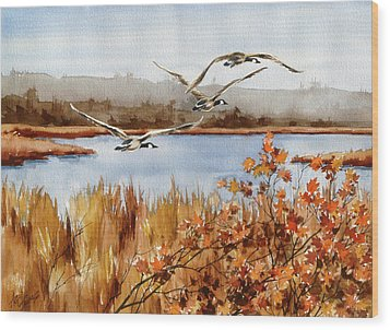 On The Fly Wood Print by Art Scholz