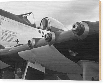 P51 Mustang Wood Print