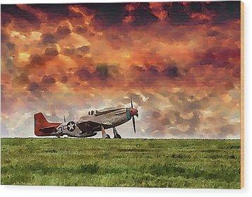 P51 Warbird Wood Print
