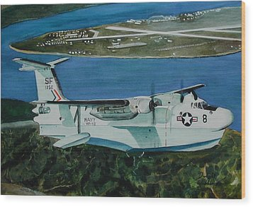 P5m Over North Island Wood Print by Dwight Williams
