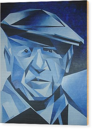 Pablo Picasso The Blue Period Wood Print by Tracey Harrington-Simpson