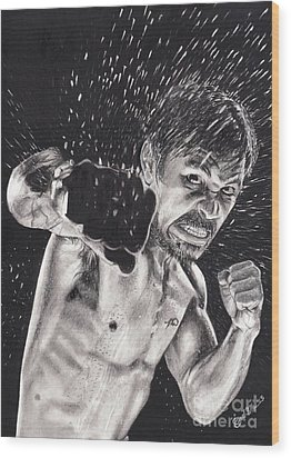 Pac-man Wood Print by Joshua Navarra