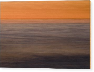 Pacific Abstracted Wood Print by Brad Rickerby