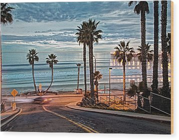 Pacific And 1st Street Wood Print by Ann Patterson