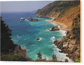 Pacific Coast Blues Wood Print