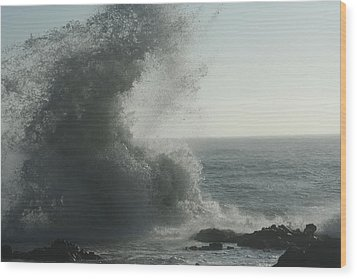 Pacific Crash Wood Print