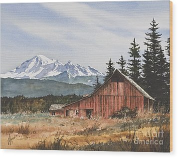 Pacific Northwest Landscape Wood Print