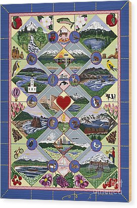 Pacific Northwest Quilt Wood Print