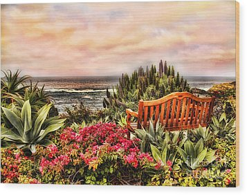 Pacific Ocean View Wood Print