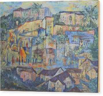 Pacific Palisades Wood Print by Lily Hymen