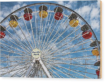 Pacific Park Ferris Wheel Wood Print