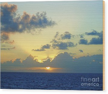 Pacific Sunrise, Japan Wood Print