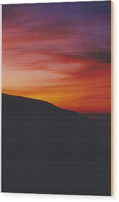 Pacific Sunset I Wood Print