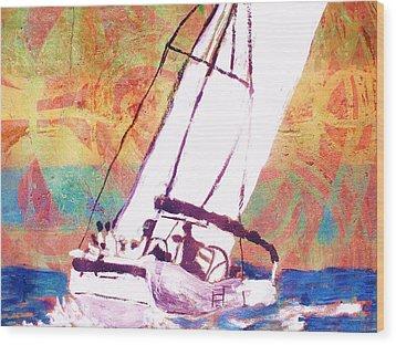 Pacific Wind Wood Print by Samuel Banks
