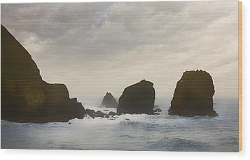 Pacifica Surf Wood Print by John Hansen